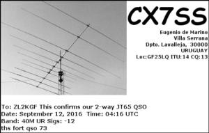 DXCC 144 - Uruguay