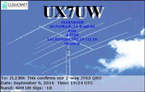 DXCC 288 - Ukraine